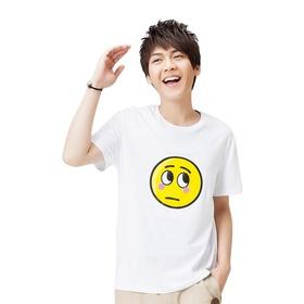 表情系列男款短袖T恤-表情#17(白)