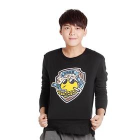 游戏表情#146长袖T恤(黑)
