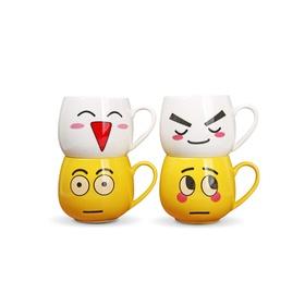 逗趣系列陶瓷杯四件套A款