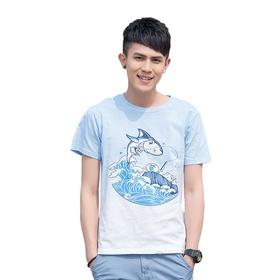 游戏表情短袖T恤-钓鱼历险记