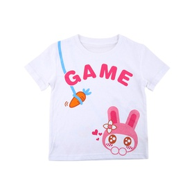 游戏表情童装短袖T恤-小兔乖乖