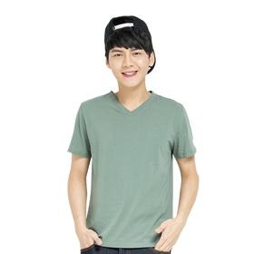 网易游戏V领短袖T恤(绿)