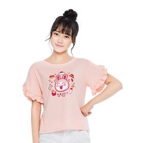 游戏表情#165短袖T恤(粉)