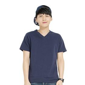 网易游戏V领短袖T恤(蓝)