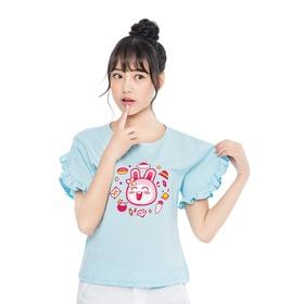 游戏表情#165短袖T恤(蓝)