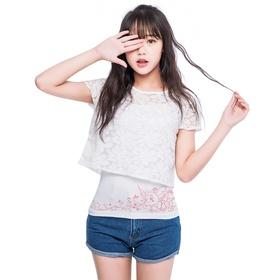 梦幻西游蕾丝衫背心两件套-超级泡泡
