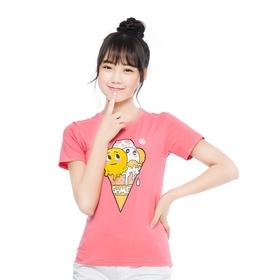 游戏表情短袖T恤-趣味冰淇淋