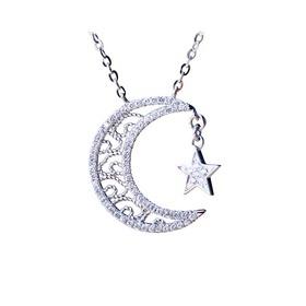 大话西游2 18K金镶钻星月项链(潮宏基定制款)