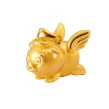 梦幻天使猪猪黄金吊坠(潮宏基定制款)