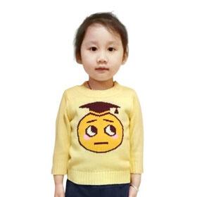 游戏表情童装长袖毛衣-#17小博士