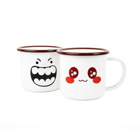 游戏表情搪瓷杯两件套