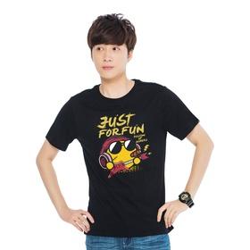 游戏表情#146短袖T恤-摇滚青年