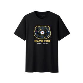 游戏表情短袖T恤-吃豆人迷宫