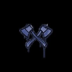 封装的涂鸦   双斧 (靛蓝)
