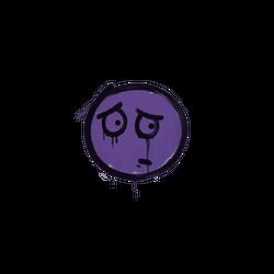封装的涂鸦   担心 (暗紫)