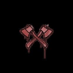 封装的涂鸦 | 双斧 (血红)