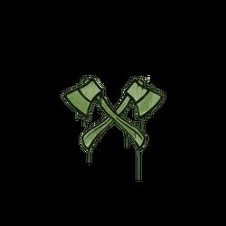 封装的涂鸦 | 双斧 (军绿)