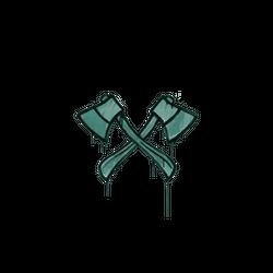 封装的涂鸦 | 双斧 (暗绿)